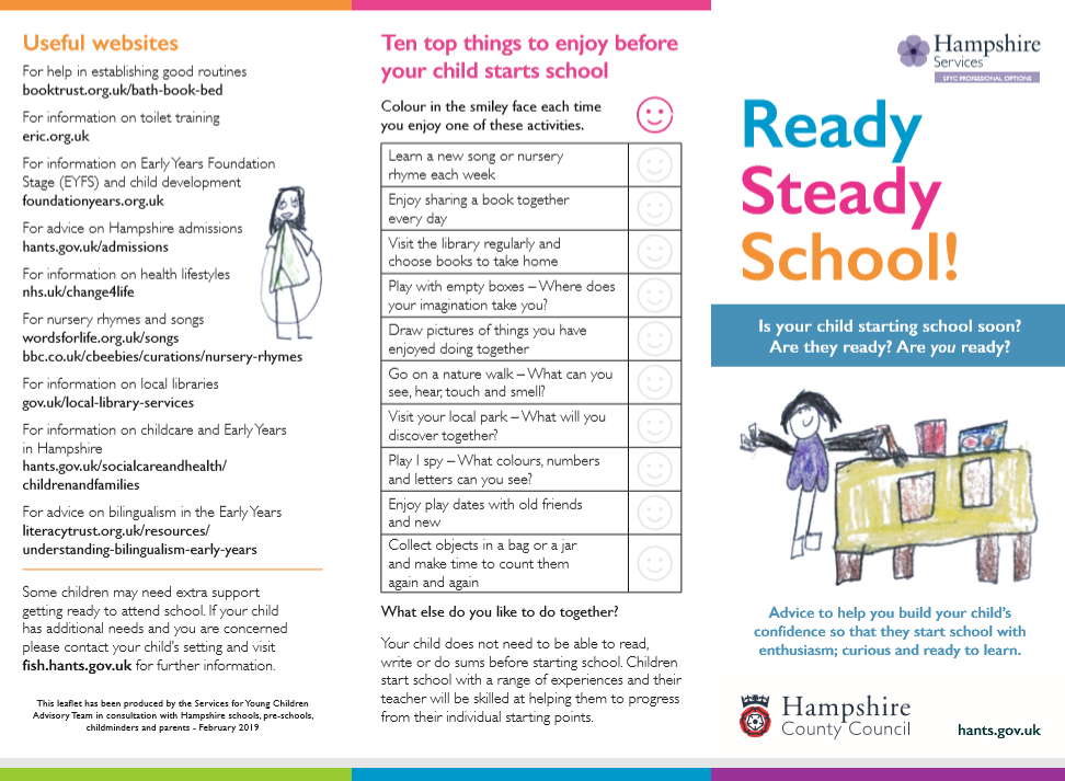 Image of the School Readiness leaflet